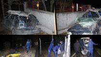 Takla atan aracın sürücüsü ve eşi öldü, çocukları yaralandı