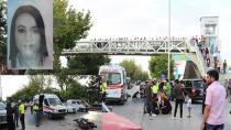 Genç kızın öldüğü motosiklet kazası güvenlik kamerasında