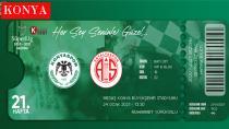 Konyaspor - Antalyaspor Maçının Hatıra Biletleri Satışa Çıktı