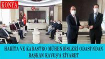 Harita ve Kadastro Mühendisleri Odası'ndan Başkan Kavuş'a Ziyaret